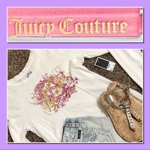 NWT Juicy Couture Long Sleeve Graphic T-Shirt